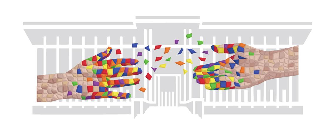 Schéma fresque participative mains tendues au musée de l'immigration par Nonitt Paper Sculptures